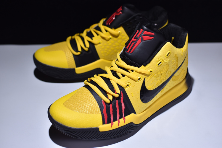 9b3c9495e5c5 Nike Kyrie 3  Mamba Mentality  Tour Yellow And Black 2020 Best ...