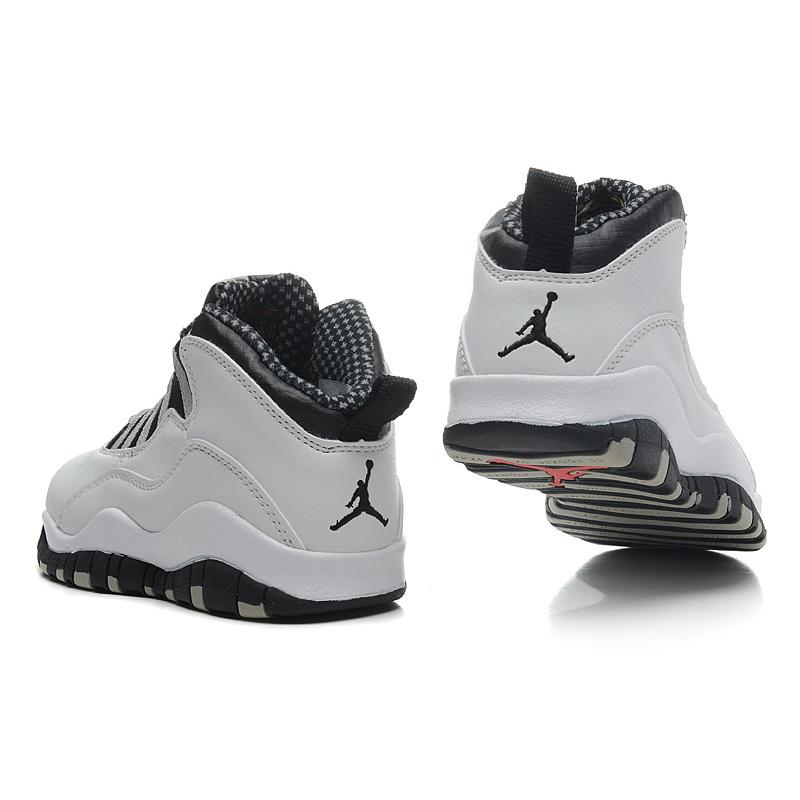 promo code a7336 10bc9 Air Jordan 10 'Steel' White And Black-Light Steel Grey Red Top Deals