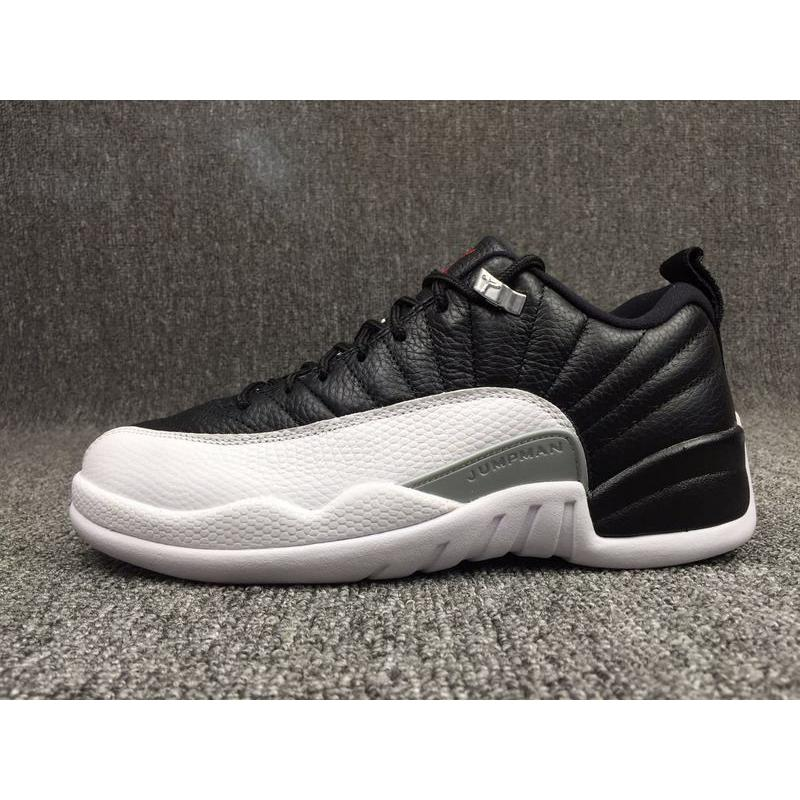 8ed0ec2fc0fa Air Jordan 12 Low  Playoffs  Black And Varsity Red-White Online ...