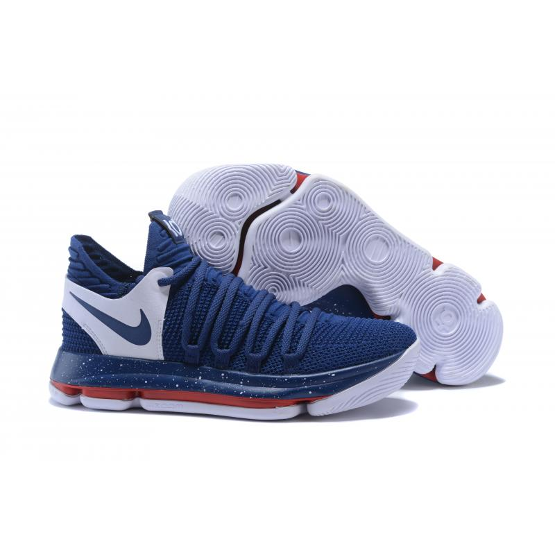 2894eb775ab7 Best Nike KD 10 Navy Blue White-Red ...