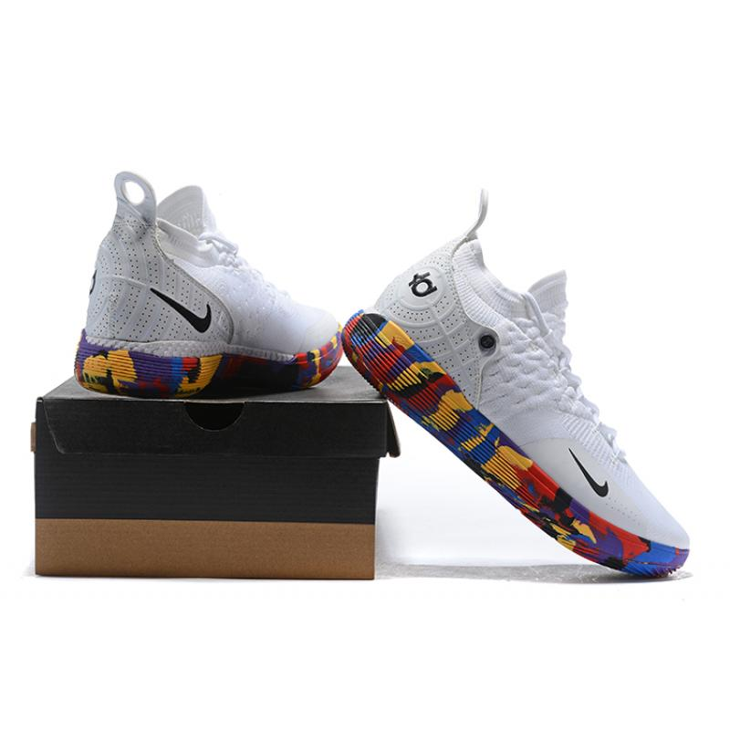 """9350b2eac307 Big Discount Nike KD 11 """"NCAA March Madness"""" White Multi-Color ..."""