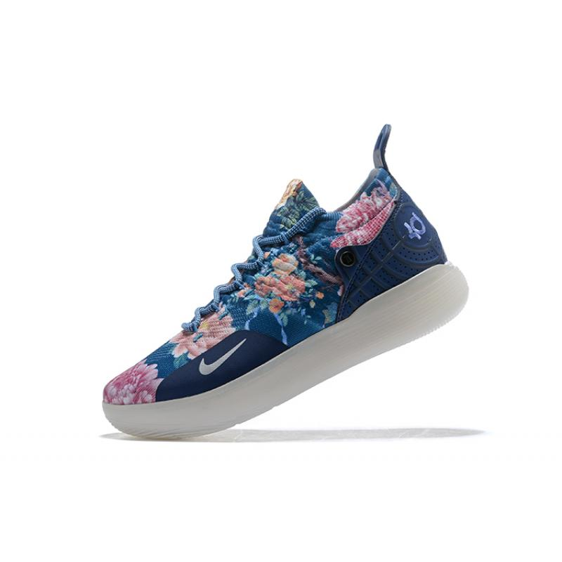 """new styles cb515 e911e ... Men s Nike KD 11 """"Floral Blue"""" Basketball Shoes For Sale ..."""
