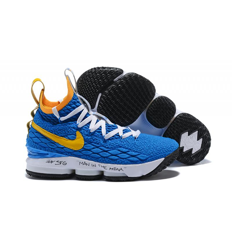 "2f3bc2049092 Nike LeBron 15 ""Waffle Trainer"" Blue Yellow Online ..."