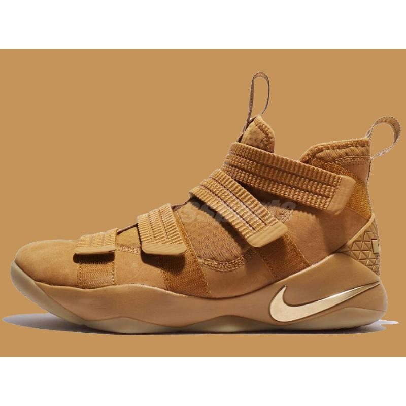 los angeles 15f8b 158aa Nike LeBron Soldier 11 Wheat Gold And Metallic Gold Online ...