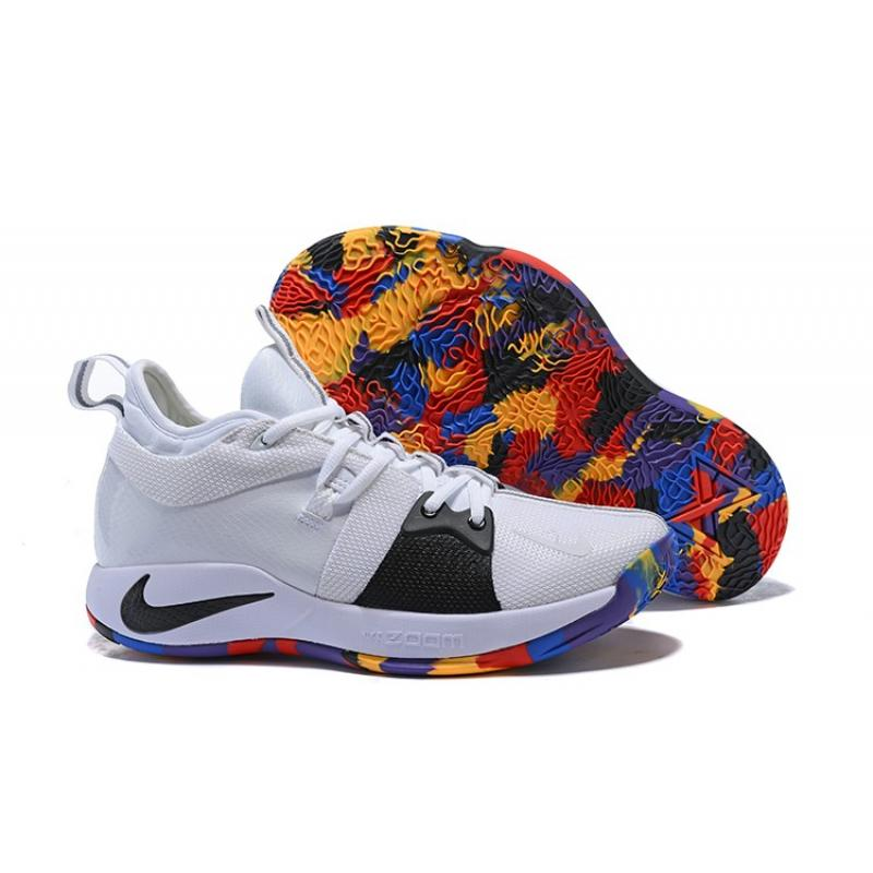 "new product f22ba 822b7 New Style Nike PG 2 ""NCAA"" White And Black With Multi-Color"