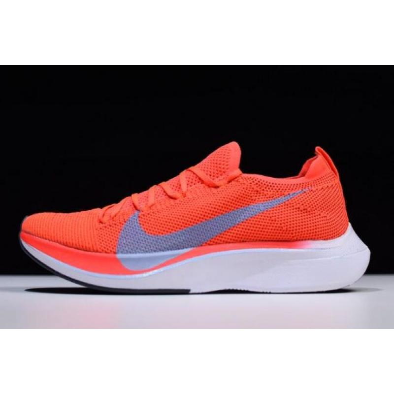 9b04df124eb5c Women Men Nike Zoom VaporFly 4% Flyknit Bright Crimson Ice Blue AJ3857- ...