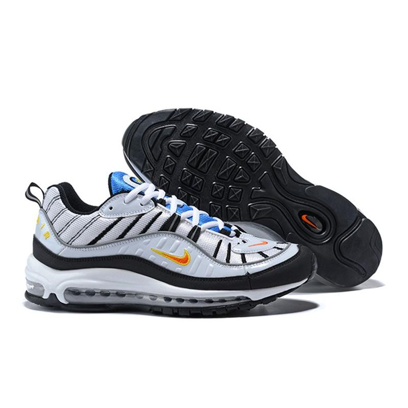 2020 Best Nike Air Max 98 White Total Orange-Metallic Silver ... 88ca81890