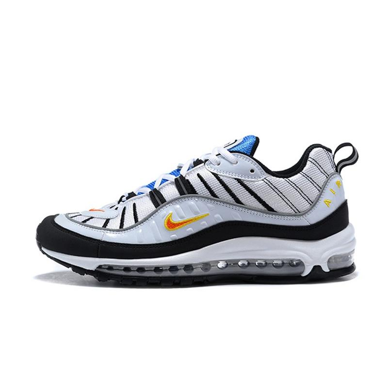 ... 2020 Best Nike Air Max 98 White Total Orange-Metallic Silver ... f3b870475