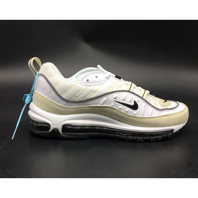 "huge selection of 6ff96 5e572 Nike Air Max 98 ""Fossil"" White Black-Fossil-Reflect Silver New ..."