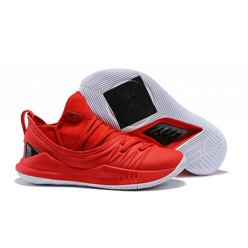 66eaf9d99ecf Free Shipping Under Armour Curry 5 Red Black ...