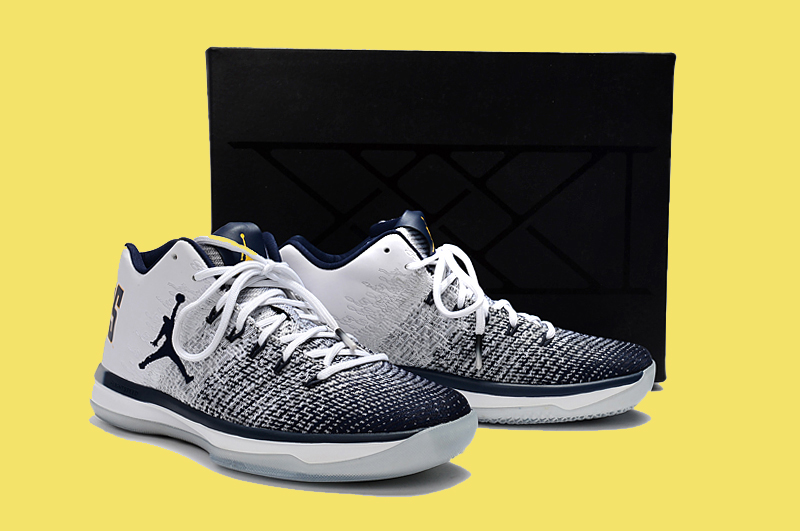 premium selection 0669a d4c14 New Release Air Jordan 31 Low  Cal  White And Amarillo-College Navy