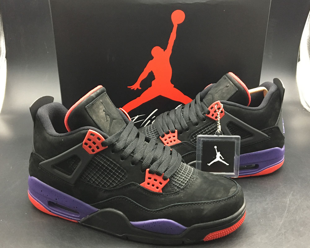 differently 631e6 64996 New Year Deals Air Jordan 4 NRG  Raptors  Black University Red-Court