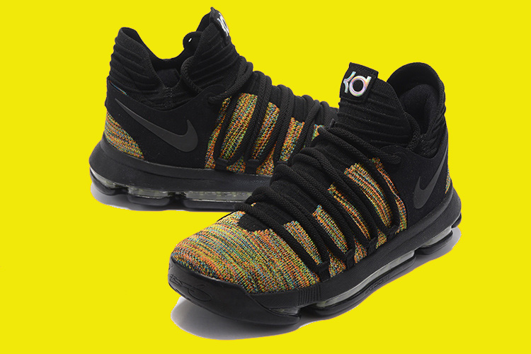 0eec61921723 2020 New Year Deals Nike KD 10 Multicolor Black-Volt
