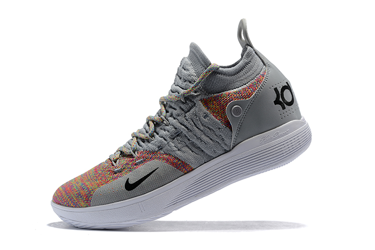 New Nike KD 11 Cool Grey Multi-Color Men s Basketball Shoes New Style bd4957ff7