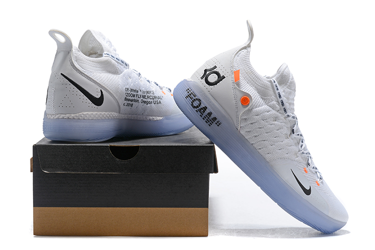 new arrival d312b c3096 Off-White X Nike KD 11 White Black Orange Basketball Shoes Best