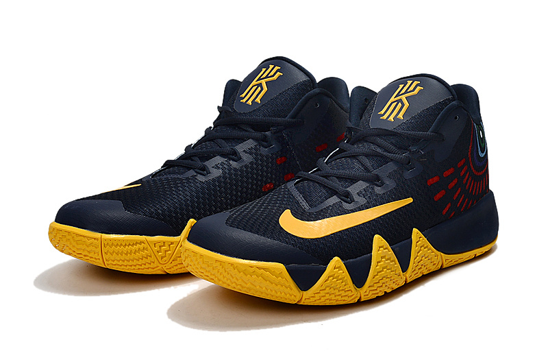 low priced e1008 5eb44 New Release Nike Kyrie 4 Deep Blue Yellow