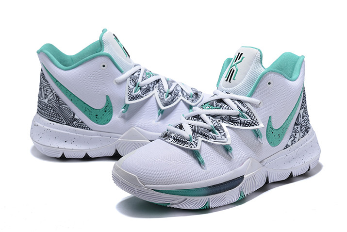 """13cd83618bb6 Authentic Nike Kyrie 5 """"Unveiled"""" PE White Mint Green-Black"""
