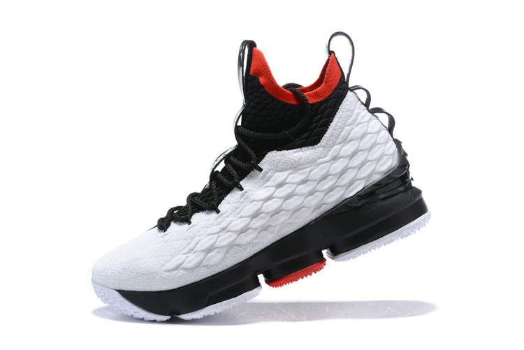 a3c16310750 2020 New Style Nike LeBron 15 White Black And Red