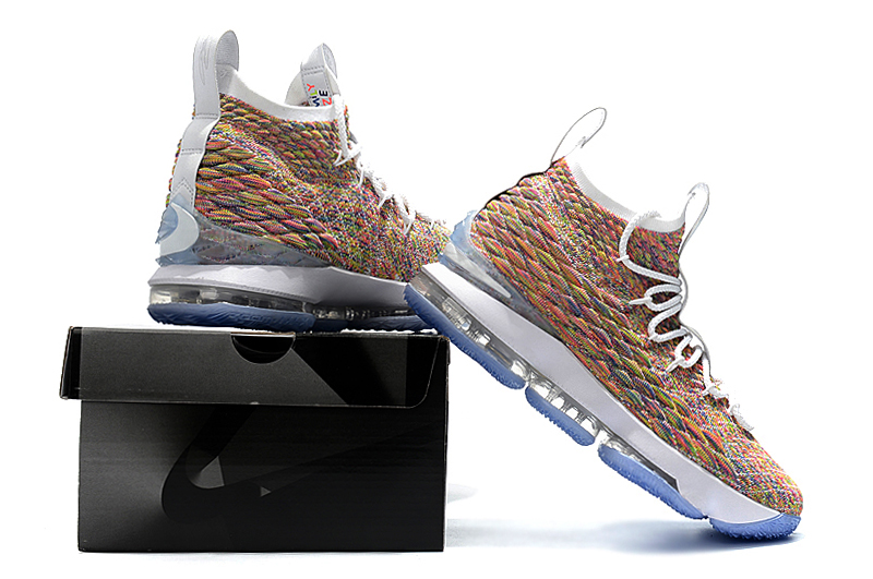 the best attitude 2977a 1aa39 Nike LeBron 15 'Fruity Pebbles' White And Multi-Color New Release