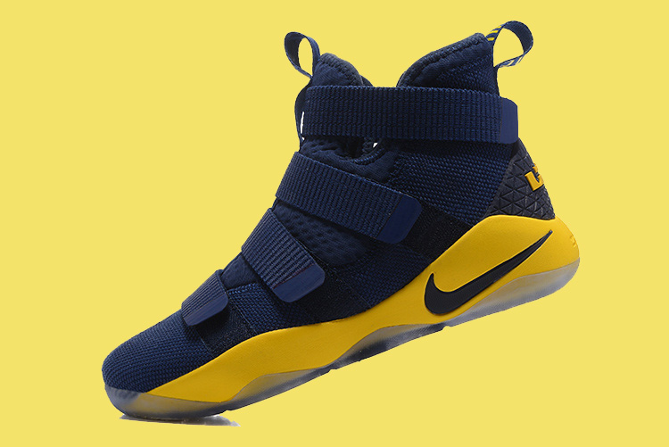 online store 932d8 da0c2 Nike LeBron Soldier 11 Deep Blue And Yellow Discount