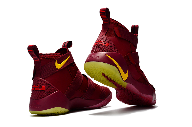 5ea966ac96e Nike LeBron Soldier 11 PE  Cavs  Wine Red Gold Top Deals