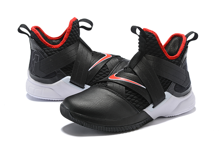 c14887faccf Nike LeBron Soldier 12  Bred  Black University Red-White Free Shipping