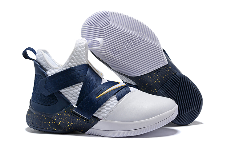 9386aa5ba51 Nike LeBron Soldier 12 White Midnight Navy-Mineral Yellow Super Deals