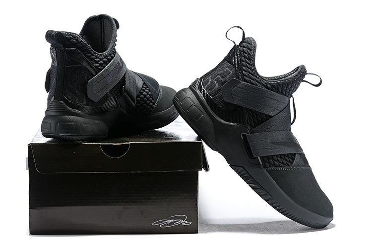 reputable site 3b6a6 702ed New Style Nike LeBron Soldier 12 SFG  Dark 23  Anthracite Black